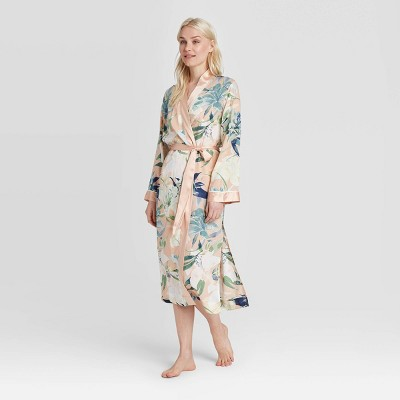 Women's Floral Print Simply Cool Robe - Stars Above™ Coral M/L