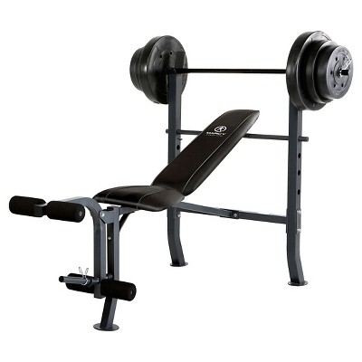 Marcy Standard Bench with 100 lb. Weight Set (MD-2082W)