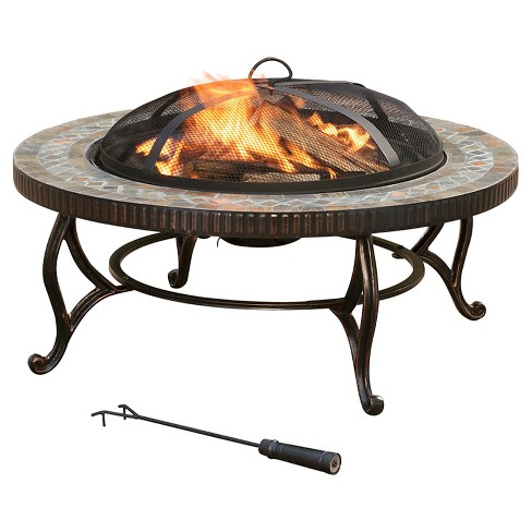 "Pleasant Hearth 34"" Elizabeth Slate Fire Pit - image 1 of 11"