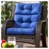Solid Outdoor High Back Chair Cushion - Kensington Garden - image 2 of 4