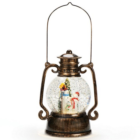 "11"" Lantern with Snowman Glitterdome Water Globe - image 1 of 1"