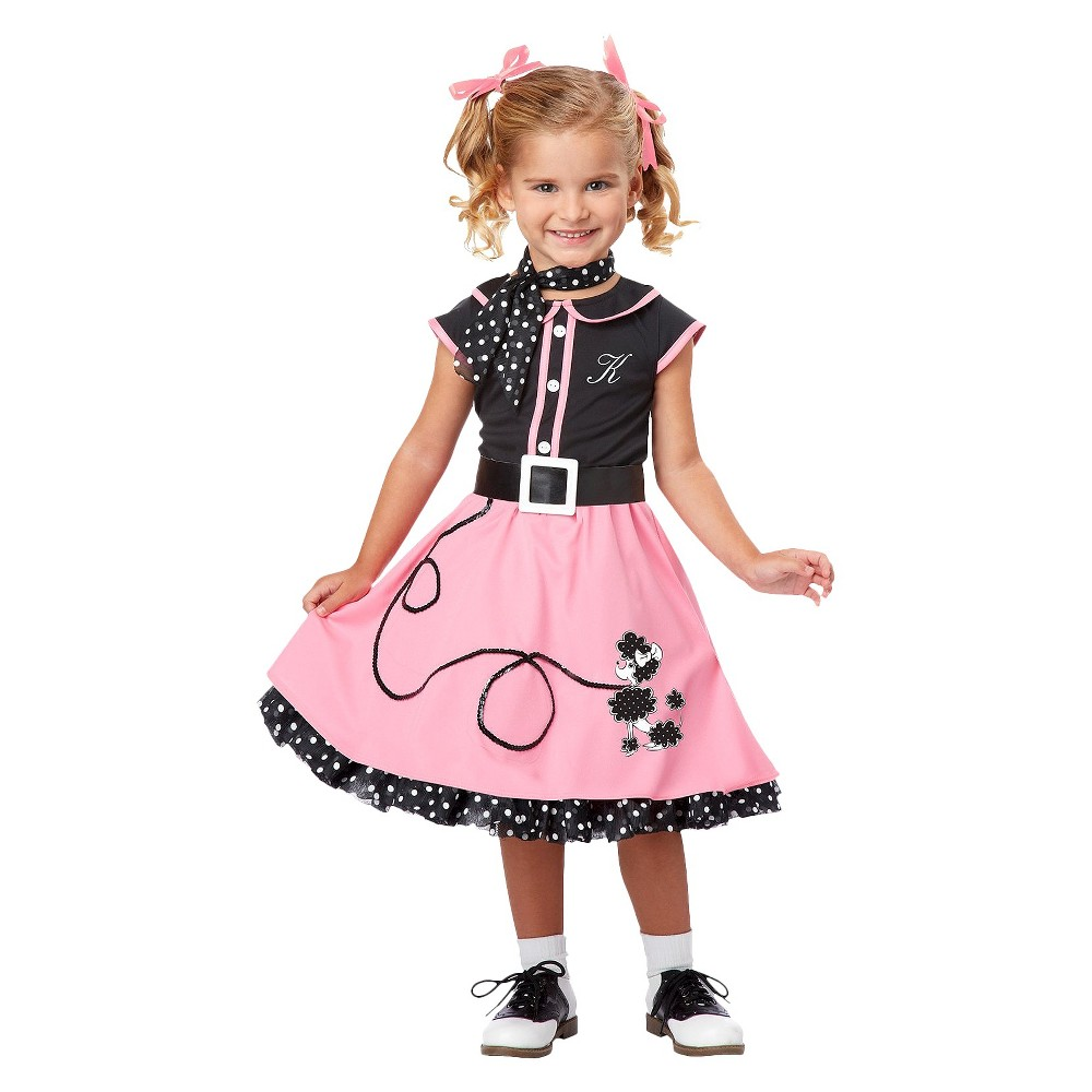 Vintage Style Children's Clothing: Girls, Boys, Baby, Toddler Girls 50s Poodle Cutie Costume Small 4-6 Size S4-6 $19.79 AT vintagedancer.com