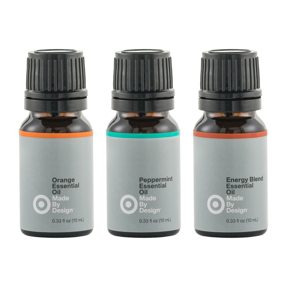 Image of 10ml 3pk Essential Oil Energizing Set Orange/Peppermint/Energy Blend - Made By Design