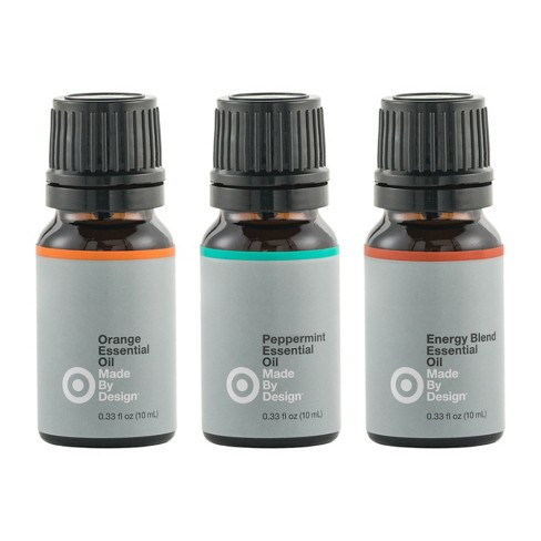 .33 fl oz 3pk Essential Oil Energizing Set Orange/Peppermint/Energy Blend - Made By Design™ - image 1 of 2