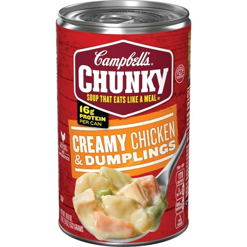 Campbell's Chunky Creamy Chicken & Dumplings Soup - 18.8oz - image 1 of 4