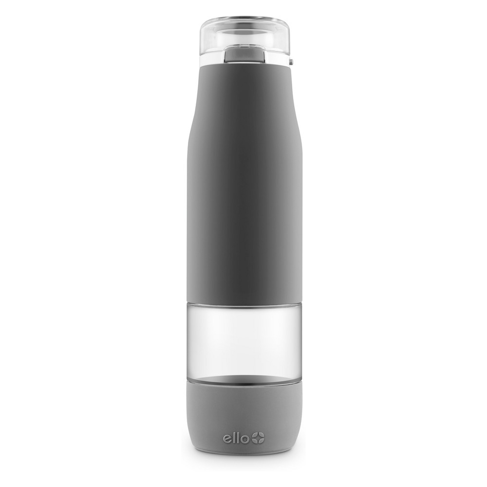 Image of Ello 24oz Aura Glass Hydration Bottle Gray