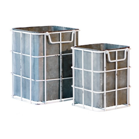 Metal Planter Set 2pc - VIP Home & Garden - image 1 of 1