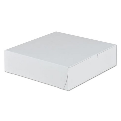 SCT Tuck-Top Bakery Boxes 9w x 9d x 2 1/2h White 250/Carton 0953 - image 1 of 1