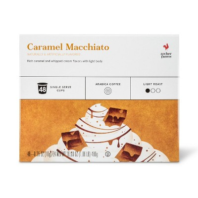Caramel Macchiato Light Roast Coffee - Single Serve Pods - 48ct - Archer Farms™
