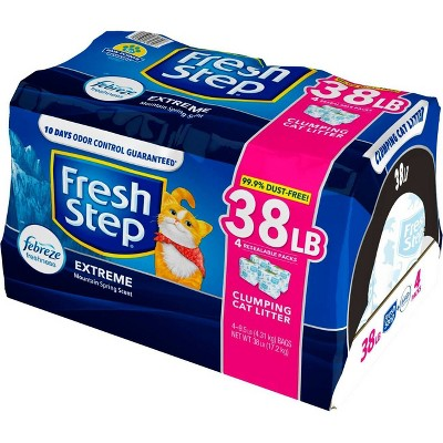 Fresh Step Extreme Scented Litter with the Power of Febreze Clumping Cat Litter - Mountain Spring