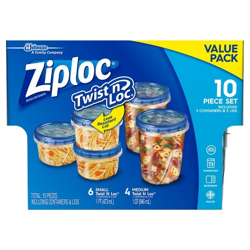 Ziploc Clear Food Storage Container Set 10p Target