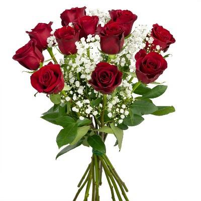 Colour Republic Red Rose + Gypsophila Bouquet