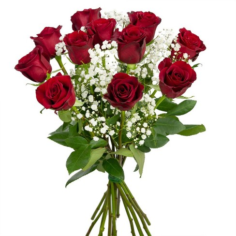 Colour Republic Red Rose + Gypsophila Bouquet - image 1 of 4