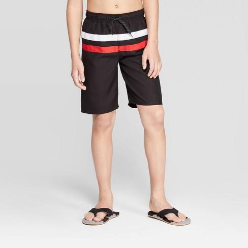 Sea-Life Co. Boys' Colorblock Swim Trunks - Black - image 1 of 3