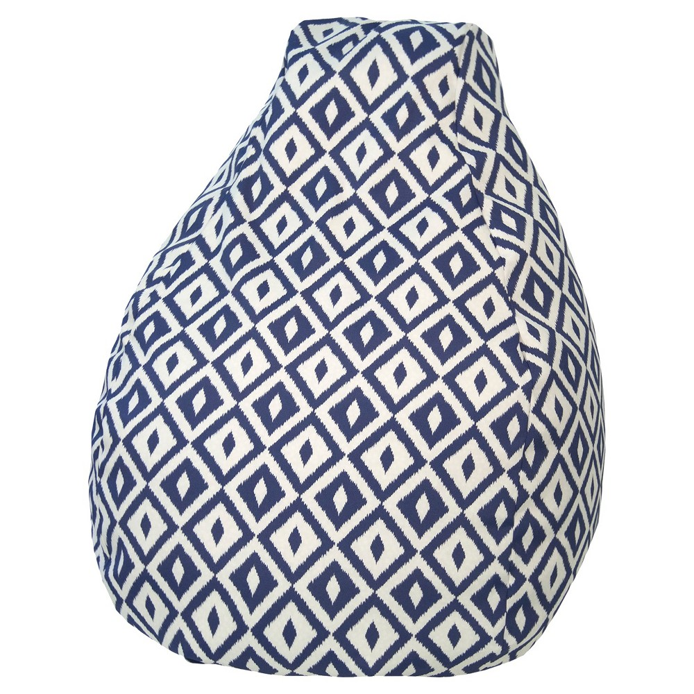 Image of Gold Medal Bean Bag Chair - Blue/White