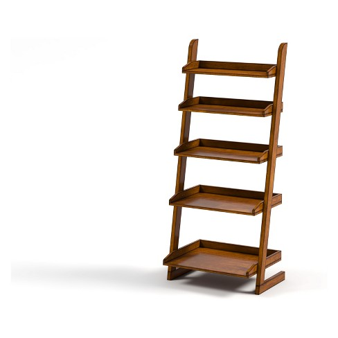 55 Claire 5 Shelf Ladder Bookcase Oak