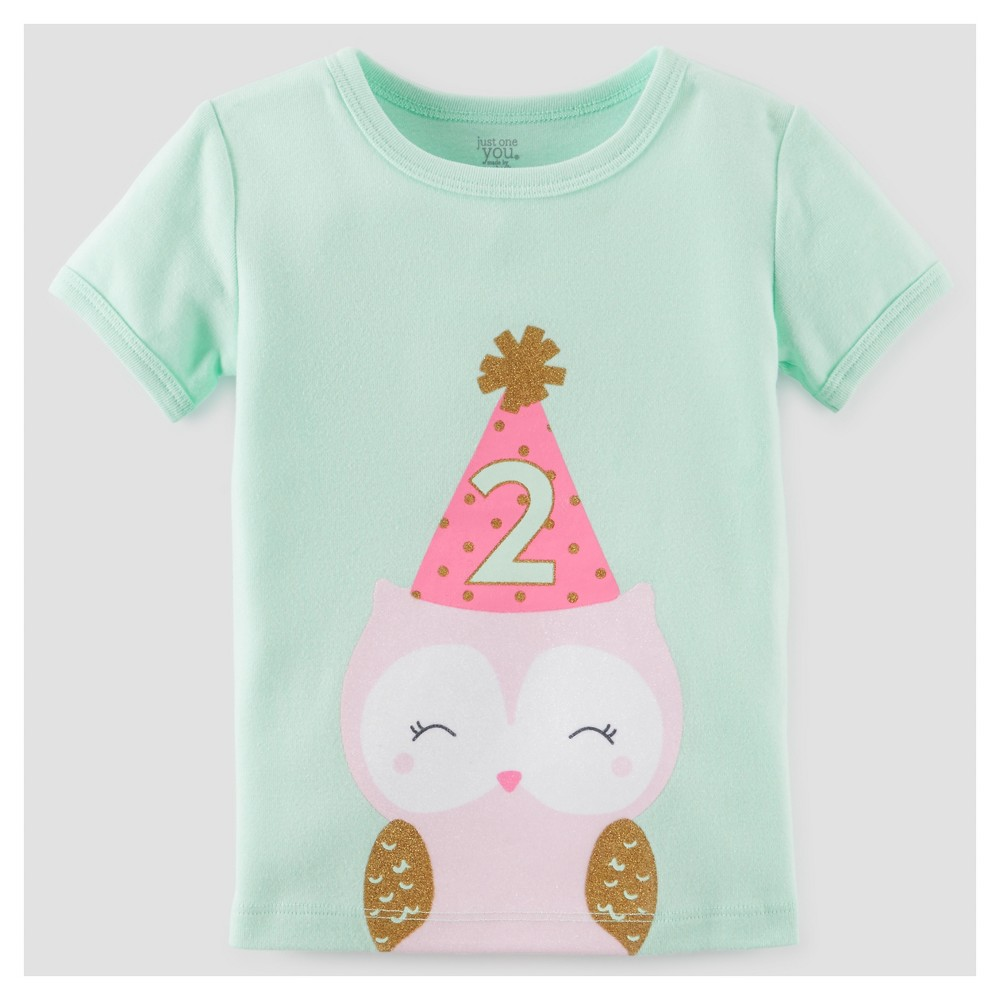Toddler Girls' 2 T-Shirt - Just One You Made by Carter's Mint (Green) 3T