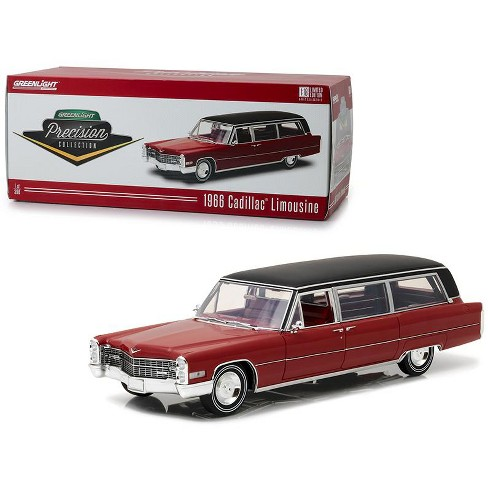 """1966 Cadillac S&S Limousine Red w/Black Vinyl Top """"Precision Collection"""" Ltd Ed 396 pcs 1/18 Diecast Car  by Greenlight - image 1 of 3"""