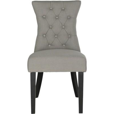 Gretchen Tufted Side Chair (Set of 2) - Granite - Safavieh