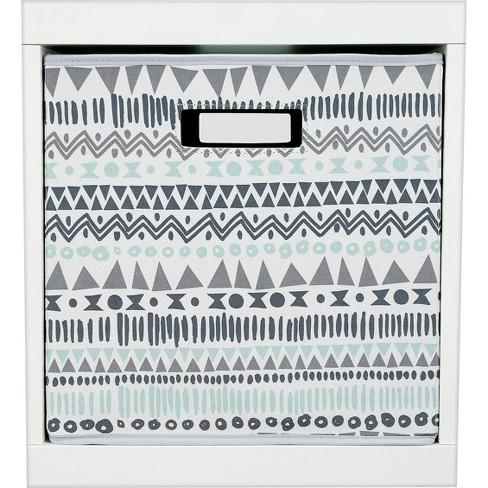 Fabric Cube Toy Storage Bin Aztec Print - Pillowfort™ - image 1 of 2