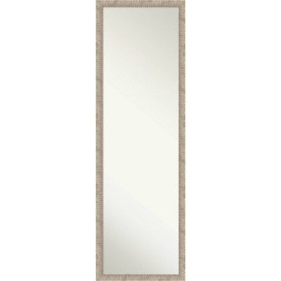 Hewn Narrow Framed Full Length on the Door Mirror Soft Gold - Amanti Art