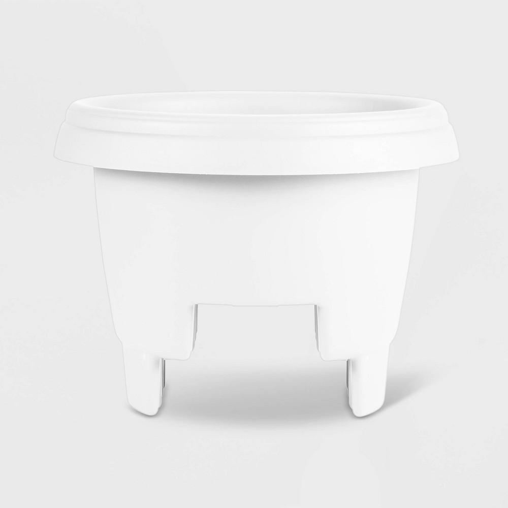 12 Plastic Deck Balcony Rail Planter White - Bloem, Bright White