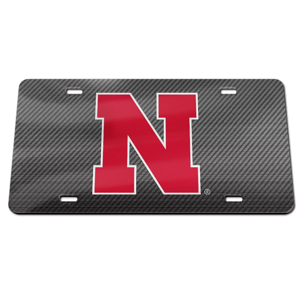 NCAA Nebraska Cornhuskers Carbon License Plate Frame