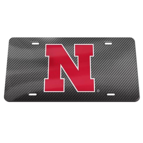 NCAA Nebraska Cornhuskers Carbon License Plate Frame - image 1 of 1