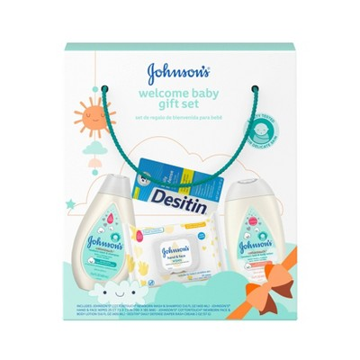 Johnson's Welcome Baby Gift Set - 4pc