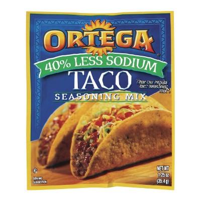 Ortega® Taco Seasoning Mix 40% Less Sodium 1.25oz