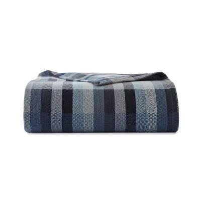 Windsor Stripe Bed Blanket Blue - Eddie Bauer