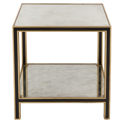End Table Black Gold - Safavieh - image 1 of 3