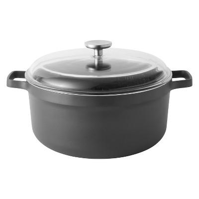 """BergHOFF GEM  11"""" Non-Stick Covered Stock Pot 7.7 Qt, Black"""