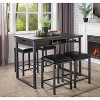 Set of 2 Simon Cushioned Metal Barstool Gray - miBasics - image 2 of 4