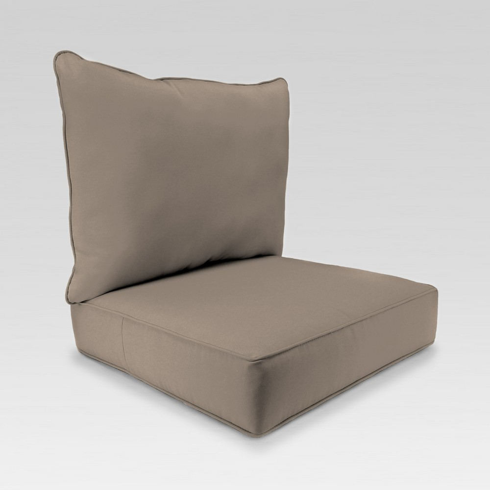 Image of 2pc Deep Seat Chair Cushion - Brown - Jordan Manufacturing