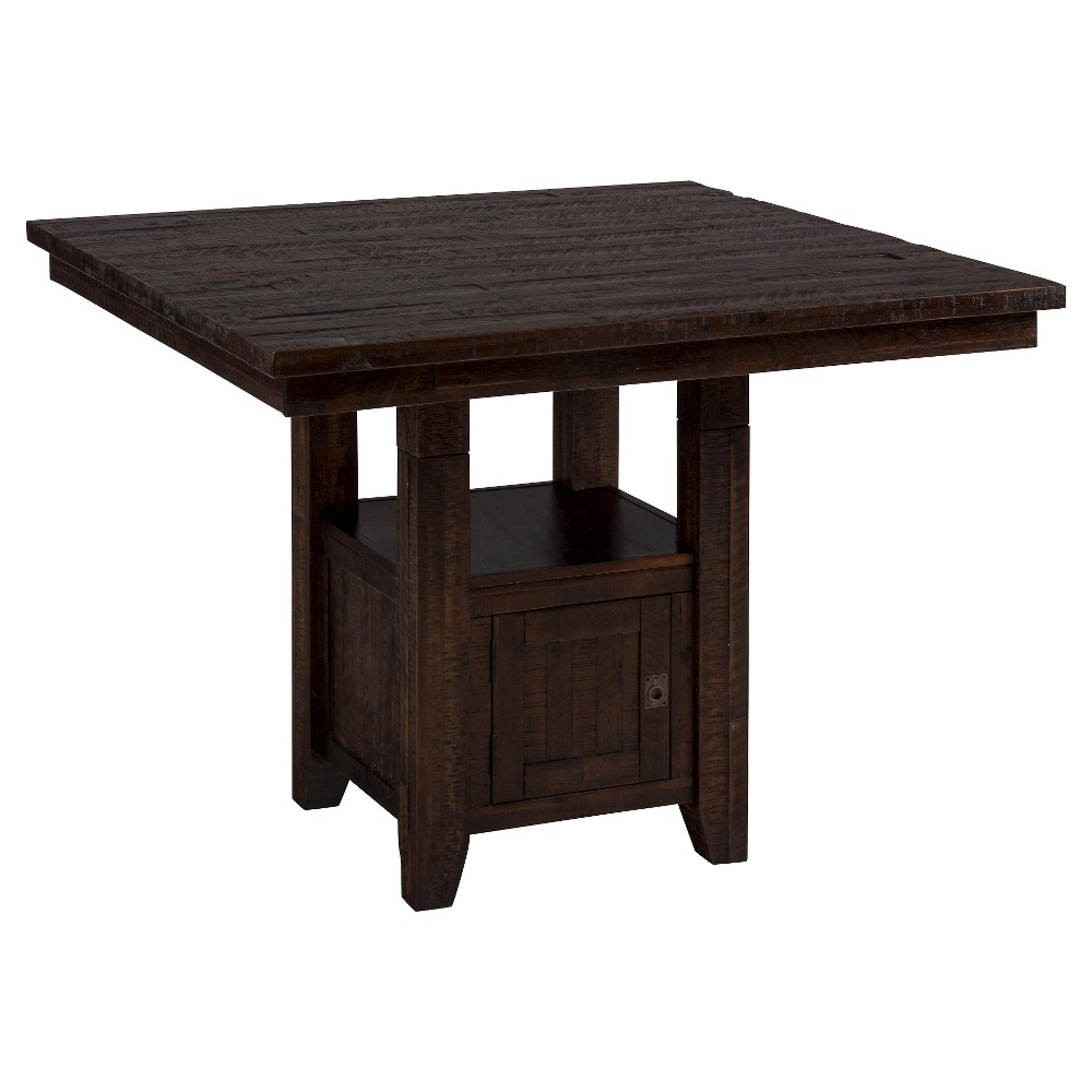 Kona Grove Fixed Pub Table with Storage Base Wood/Brown - Jofran Inc.