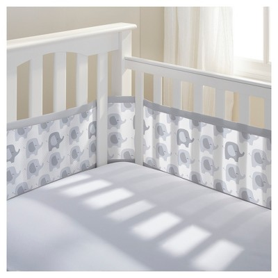 Breathable Baby® Mesh Crib Liner - Elephants