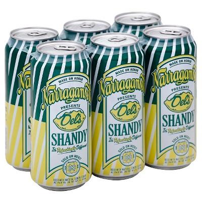 Narragansett Del's Lemon Shandy Beer - 6pk/16 fl oz Cans