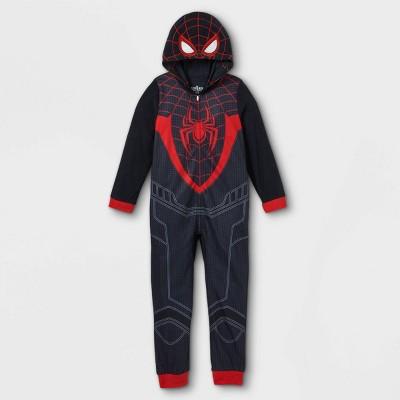 Boys' Marvel Miles Spidey Union Suit - Black