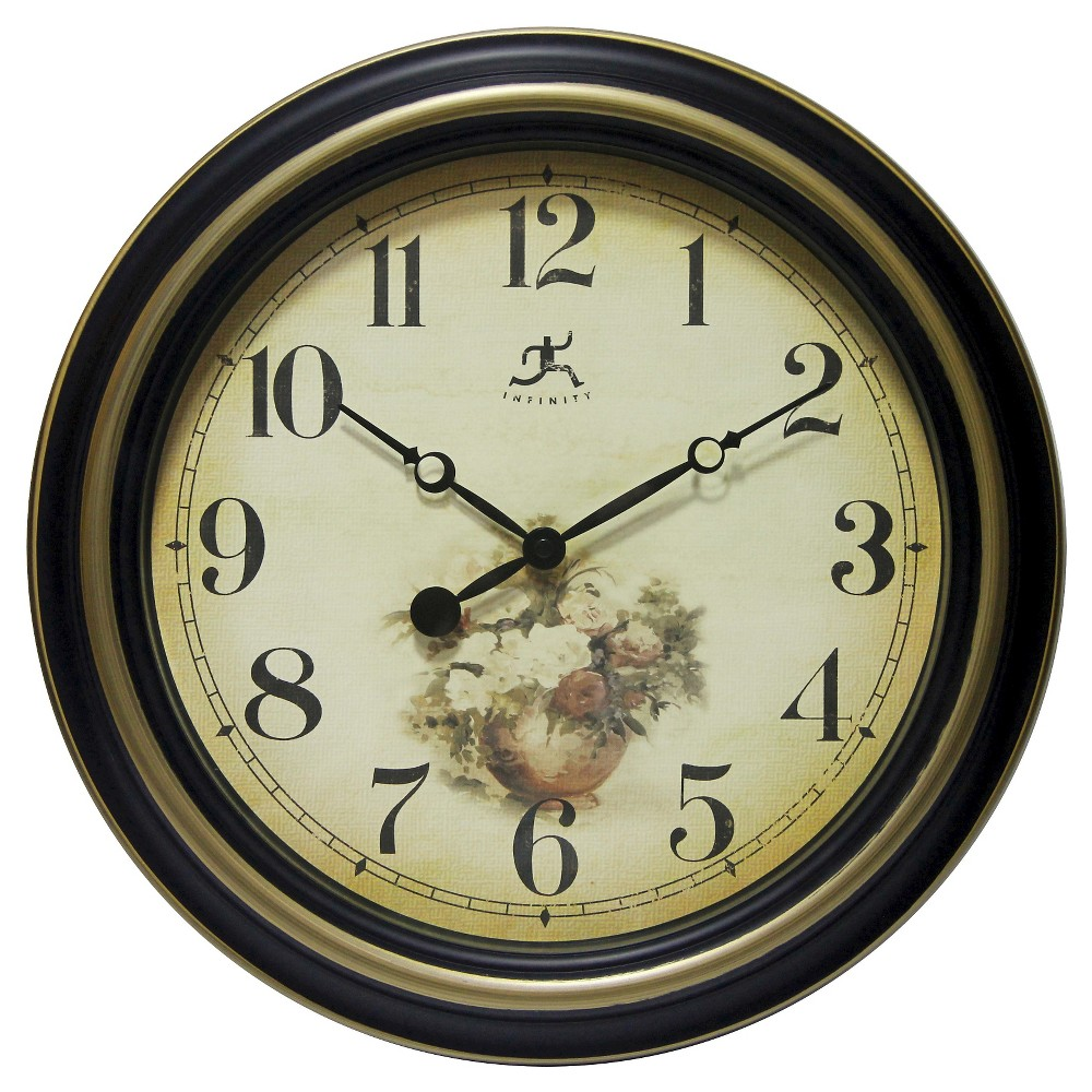 Procession Round Wall Clock Black - Infinity Instruments