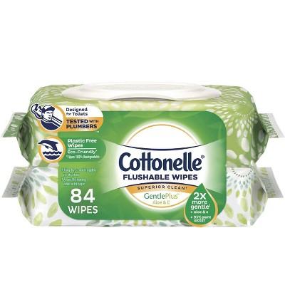 Flushable Wipes: Cottonelle Gentle Plus Flushable Wipes