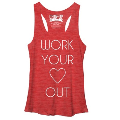 Women's CHIN UP Heart Racerback Tank Top