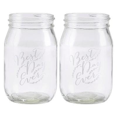 2ct Hortense B. Hewitt Rustic Vines Drinking Jars