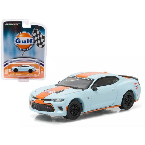 2016 Chevrolet Camaro SS Gulf Oil Hobby Exclusive 1/64 Diecast Model Car by Greenlight - image 1 of 1