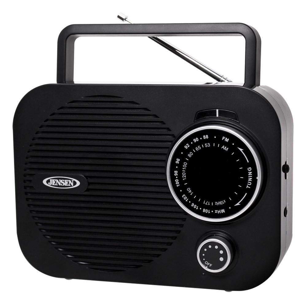 Jensen AM/FM Portable Radio (MR-550), Black