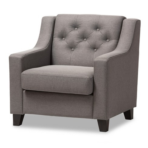 Arcadia modern and contemporary fabric upholstered button - Modern upholstered living room chairs ...