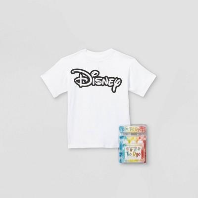 Kids' Disney Short Sleeve Graphic T-Shirt with Tie-Dye Kit - White