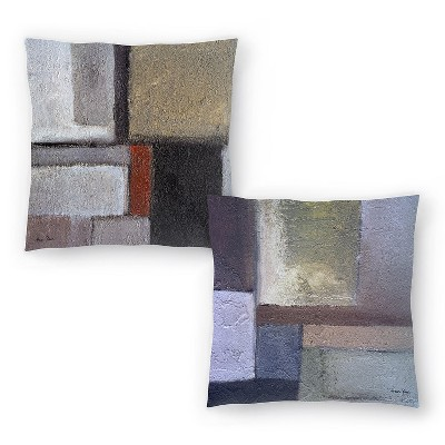Americanflat Concrescence 7 And Concrescense 6 By Hans Paus Set Of 2 Throw Pillows 14 X 14 Target