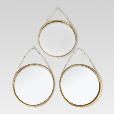 Round Mirror Brass 3pk - Threshold™