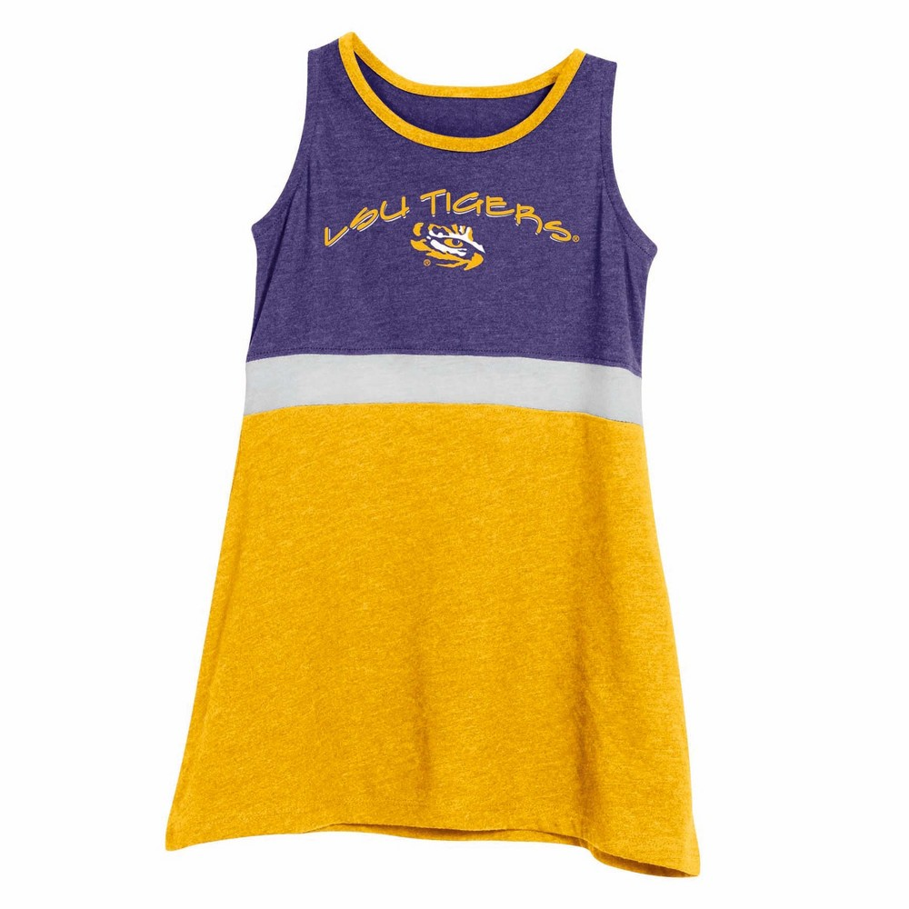 NCAA Infant Girls' Dress Lsu Tigers - 12M, Multicolored